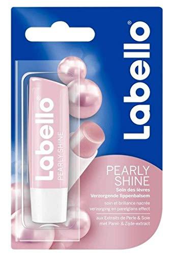 6er Pack - Labello Lipcare/Lippenpflegestift - Pearly Shine - 4,8 g