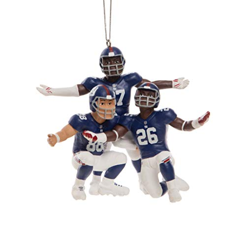 FOCO NFL New York Giants 3 Player Team Celebration Holiday Hanging Tree Ornament3 Player Team Celebration Holiday Hanging Tree Ornament, Team Color, One Size