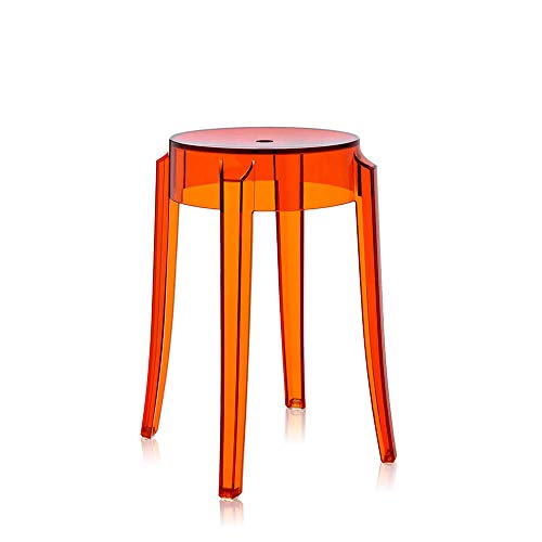 Kartell Charles Ghost tabouret h.46 cm orange transparent