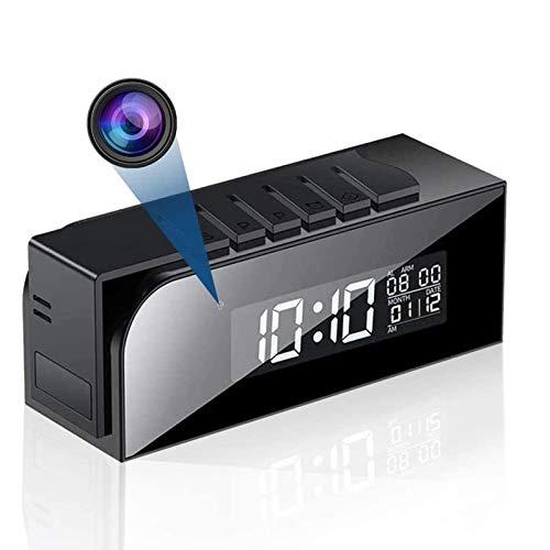 Cámara reloj 1080P WiFi cámara de vigilancia microcámara con visión nocturna IR automática y detección de movimiento para oficina y casa