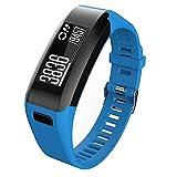 Meoket Compatible para Garmin Vivosmart HR Smart Watch,Correa de Silicona Garmin Vivosmart HR Smart Watch (Azul)