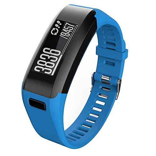 Meoket Cinturino Compatibile per Garmin Vivosmart HR, Cinturino Silicone di Alta qualità per Garmin Vivosmart HR Smart Watch (Blu)