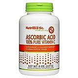 NutriBiotic Ascorbic Acid Vitamin C Powder, 8 Oz | Pharmaceutical Grade L-Ascorbic Acid, 2000 Mg Per Serving | Essential Immune & Antioxidant Collagen Support Supplement | Vegan, Gluten & GMO Free