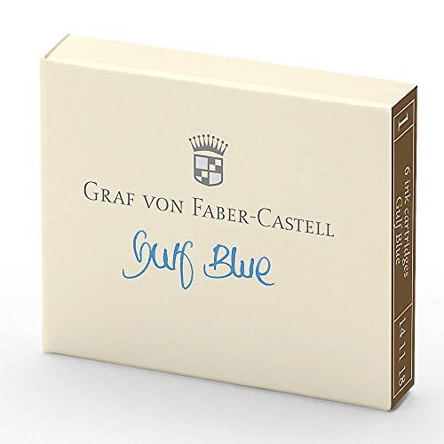 Graf von Faber-Castell 141118Cartuchos de Tinta 6pieza Gulf Azul