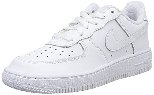 Nike Force 1 (PS), Zapatillas de Baloncesto para Niños, Blanco (White/White/White 117), 32 EU
