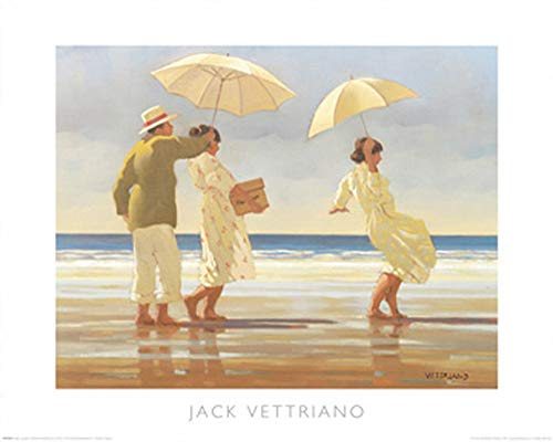 Vettriano, Jack - The Picnic Party - Kunstdruck Artprint Gemälde Dinner am Strand - Grösse 50x40 cm