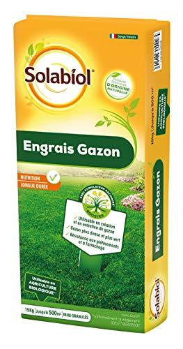 Solabiol SOGAZY15 Engrais Longue Durée 15 Kg | Gazon Dense et Plus Vert, Puissant