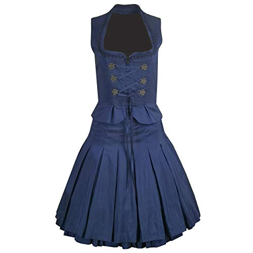 2 pcs. Trachten Costume Tanja with Skirt and Bodice in Dark Blue 40
