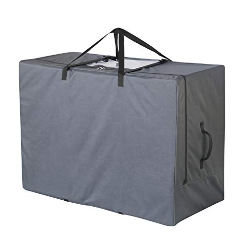 Cuddly Nest Folding Mattress Storage Bag Heavy Duty Carry Case for Tri-Fold Guest Bed Mattress (Fits Up to 6 inches Queen Mattress, Gray)