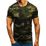 Xmiral Polo Uomo Manica Cortat Shirt Uomo Divertenti Vintage Tops Maglietta Maglia a Maniche Corte Tee Bodybuilding Maglietta (L,1Army Green)