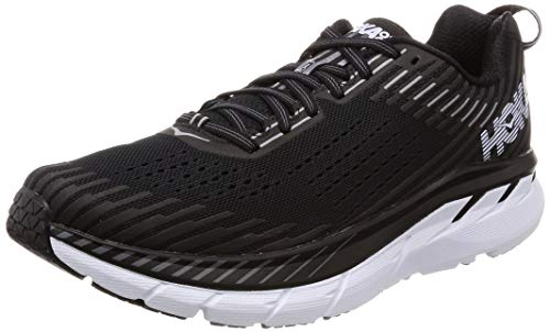 HOKA ONE ONE Men's Clifton 5 Running Shoe Black/White 9