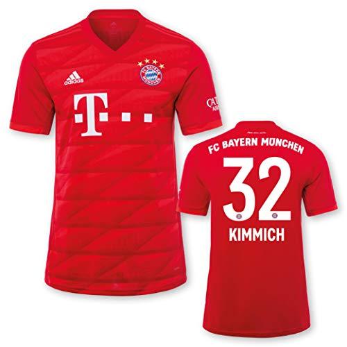 adidas FC Bayern München Heimtrikot Kinder Saison 2019/20, Größe:164, Spielername:32 Kimmich