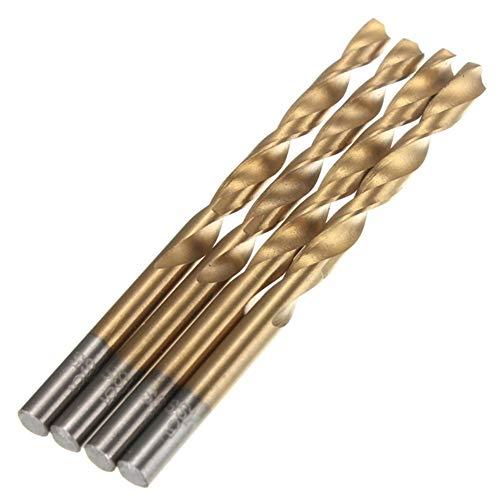 Wohren 99pcs 1.5-10mm Titan beschichtete Bohrer Set High Speed Steel Handbuch Spiralbohrer for Holz, Kunststoff und Aluminium Bohren Werkzeug