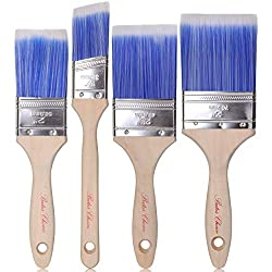 in budget affordable Bates Paintbrush – 4 pieces, handles made of treated wood, brushes, brush sets, professionals …