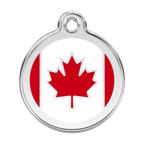 Rode Dingo Canada vlag huisdier ID tag, Small, marineblauw
