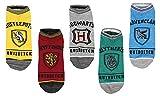 Harry Potter Socks Adult Hogwarts Quidditch No Show Ankle Socks 5 Pack