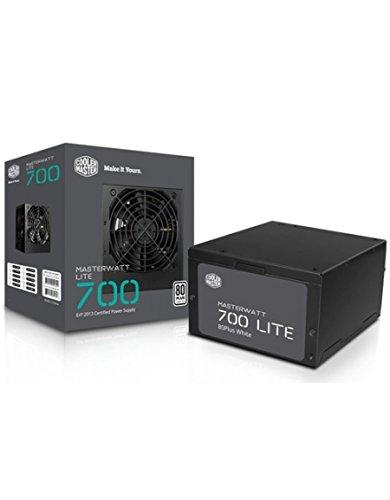 Cooler Master MasterWatt Lite 700W ATX Black power supply unit - Power Supply Units (700 W, 200-240, 47-63, 3.5-5, Active, 130 W)