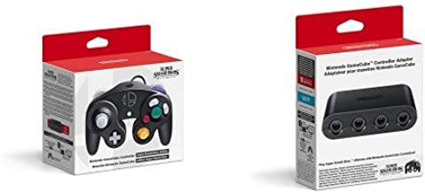 2 x GameCube Controllers - Super Smash Bros. Edition + GameCube Controller Adapter - Nintendo Switch [Importación inglesa]: Amazon.es: Videojuegos