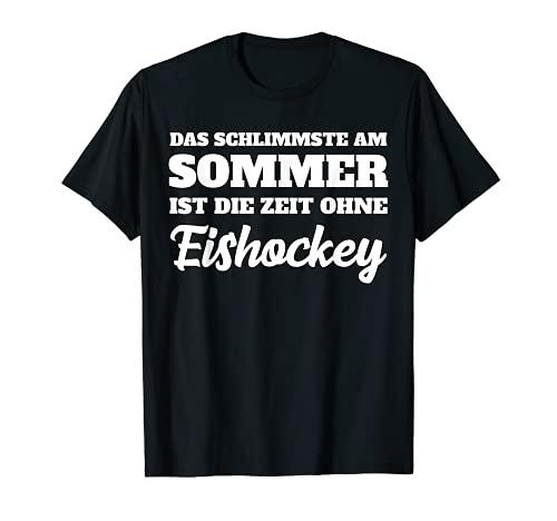 Eishockey lustiger Spruch - Zeit ohne Eishockey T-Shirt