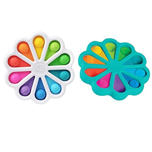 2 piezas de juguete simple de hoyuelos, juguete de mano sensorial para aliviar el estrés, juguete educativo temprano para el desarrollo del cerebro