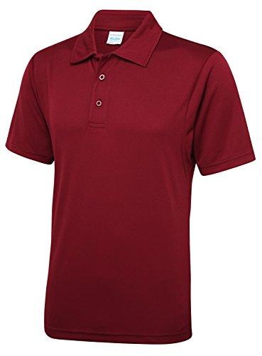 Just Cool - Performance Polo Shirt, atmungsaktiv, Burgund, Gr.XL