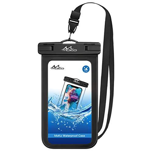 MoKo Waterproof Phone Pouch, Underwater Waterproof Cellphone Case Dry...