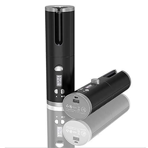 XDXDO Curling Automatique sans Fil de Fer, en céramique Professionnel bigoudi Chargement USB et Rechargeable Portable pour Le Monde Voyage