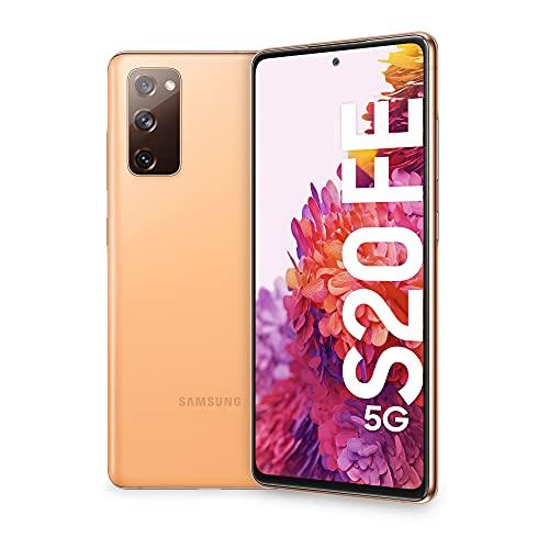 SAMSUNG Smartphone Galaxy S20 FE 5G, Display 6.5' Super AMOLED, 3 fotocamere posteriori, 128 GB Espandibili, RAM 6GB, Batteria 4.500mAh, Hybrid SIM, (2020), Arancio (Cloud Orange)