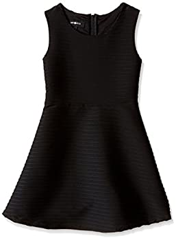 Amy Byer Girls  Big Picture and Flare Textured Knit Dress Black 7