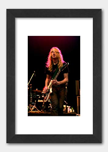 The Hellacopters - Robert Dahlqvist Livid Festival 2003 Poster Black Frame 29.7x42cm (A3) White