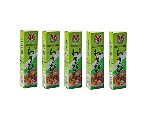 Pamai Pai® Bigpack: 5 x 43g Tuben Wasabi Paste scharf für Sushi grüner Meerrettich Wasabipaste