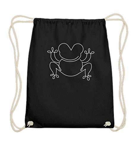 Gymsac - Rana de corchester para fans de Krten y Amphibia, algodn, color Negro, tamao 37cm-46cm