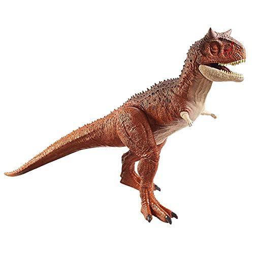 Jurassic World- Dinosauro Carnotauro Toro Super Colossale da 91 cm con Apertura sulla Pancia, Mastica e Divora, Giocattolo per Bambini 4+Anni, HBY86