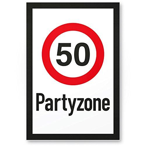 Bedankt! 50 partyzones, kunststof bord, cadeau 50, verjaardag, cadeau-idee verjaardagscadeau vijfmiste, verjaardagsdecoratie, feestaccessoires, verjaardagskaart