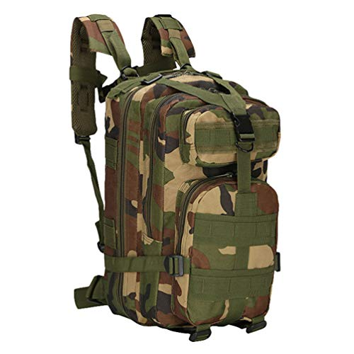 Kaiyei Military Tactical 3 Day Backpack 30L Camouflage Multi-Pocket Waterproof Durable Outdoor Climbing Hiking Camping Survival Assault Combat Molle 14 Inch Laptop Pack Jungle Camouflage
