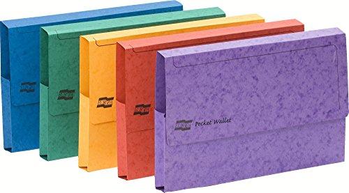 Exacompta 4780Z-5 cartelle, Sacchetto di carta smaltato, A3, 45,4 x 32,5 cm, colore: multicolore