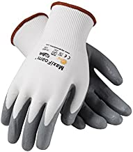 Protective Industrial Products 34-800/L, G-Tek MaxiFoam, Premium Foam Nitrile Coated Palm and Finger Tips, White Nylon Liner, L, 12 per Package