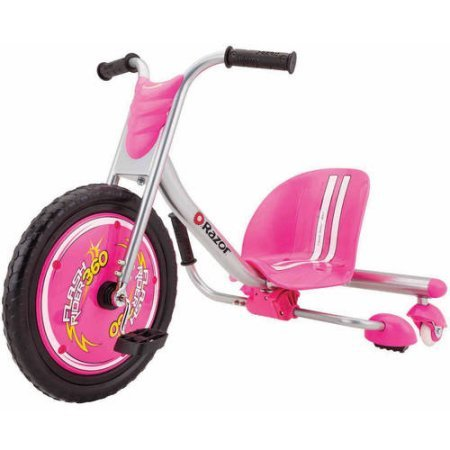 Razor 360 FlashRider Sparking kids Toys Ride-on Trike Tricycle with Hi-impact Front Wheel with Flat-free Tire - Pink (Pink)