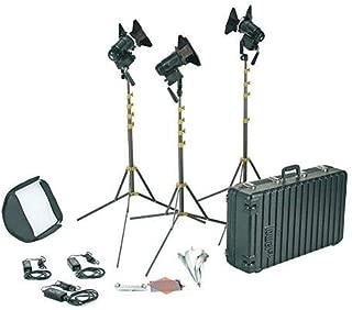 Lowel PRO Power Daylight LED 3-Light AC Kit, Includes 3X LED Light, 3X 8' Light Stand, Case, PRO Power LED Softbox, Color Gels, Gel Frame, 27