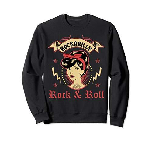 Rockabilly Pin Up Girl Rock\'n\'Roll Greaser Punk Tattoo Sweatshirt