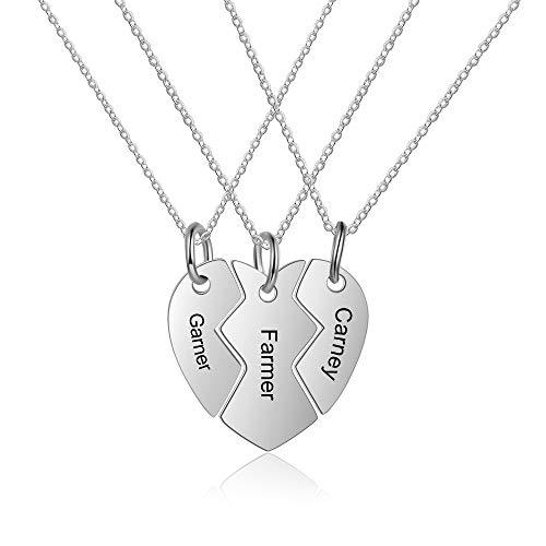 Grand Made Personalisierte Namenskette Silberne Mutterkette mit Gravurgeschenk für die Großmutter für Damen für die Mutter für Damen schmuck