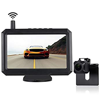 TUOZFLY Digital Wireless Backup Camera Kit with Stable Signal 5 Inch HD TFT-LCD Monitor Waterproof Rear View Camera for Trucks Cars,SUVs Pickups Vans Easy DIY Installation