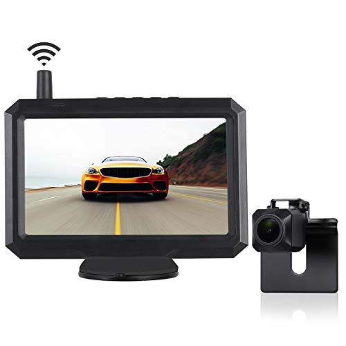 TUOZFLY Digital Wireless Backup Camera Kit with Stable Signal, 5 Inch HD TFT-LCD Monitor, Waterproof Rear View Camera for Trucks, Cars,SUVs, Pickups, Vans Easy DIY Installation