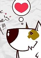 igsticker ポスター ウォールステッカー シール式ステッカー 飾り 1030×1456㎜ B0 写真 フォト 壁 インテリア おしゃれ 剥がせる wall sticker poster 003372 ラブリー アニマル 動物 キャラクター ハート
