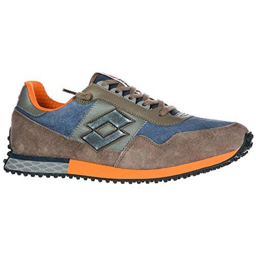 Lotto Leggenda Zapatos Zapatillas de Deporte Hombres EN Ante Nuevo Tokyo Targa Blu EU 40 T0853