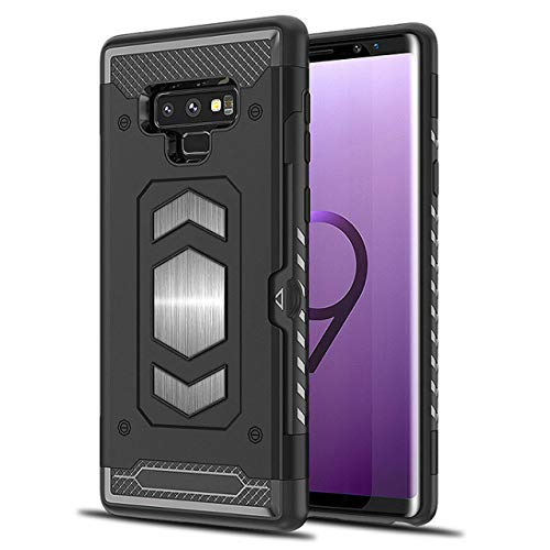 Galaxy Note 9 Case: Full Body Armor Note 9 Case: Samsung Galaxy Note 9 Card Holder/Slot - Magnetic car Mount (Black- Note 9) …