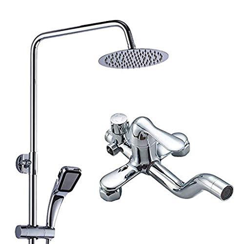 FCXBQ Duschsystem Duschkopf Regenduschset Duschkopf Säule Regendusche Bidet Säule Hydromassage Duschdusche Set Handbrause für Bad Duschkopf mit Düse