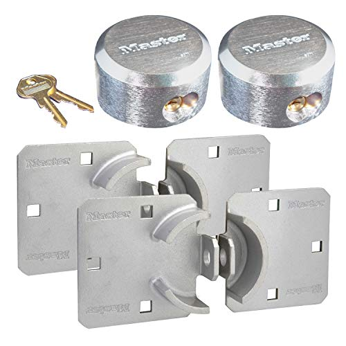 Master Lock - Hasp/Hidden Shackle (2) Keyed Alike Padlocks 770-6271NKA-2 w/BumpStop Technology