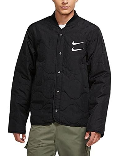 Nike Herren Sportswear Swoosh Gesteppte Bomberjacke - Schwarz - X-Large