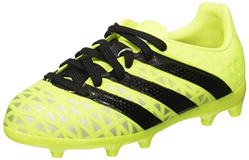 adidas Unisex-Kinder ACE 16.1 FG Fußballschuhe, Gelb (Solar Yellow/Core Black/Silver Metallic), 29 EU